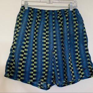 Speedo Cool Striped Checked Print Swim Shorts